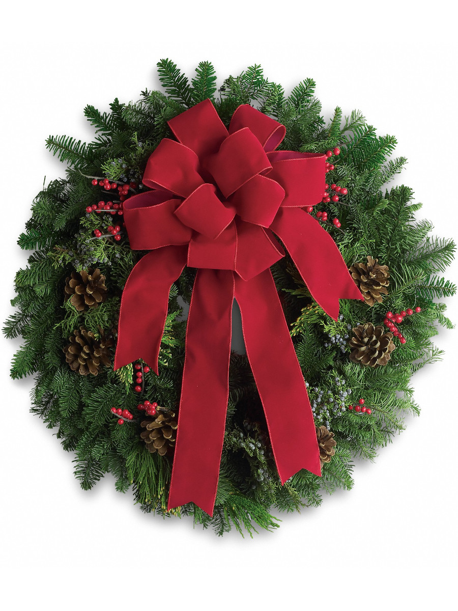 Custom-Designed Christmas Wreath